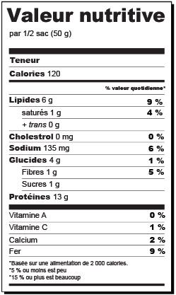 valeurs nutritionnelles 2020 - La boîte feelly